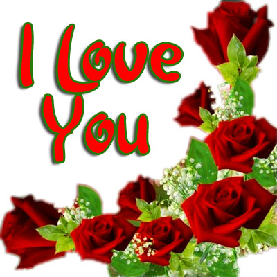 I love you Wallpaper With Red Rose