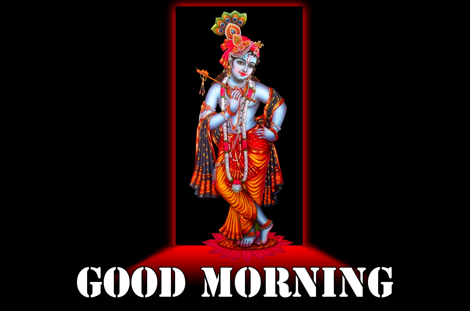 Krishna Good Morning Wishes Images Download