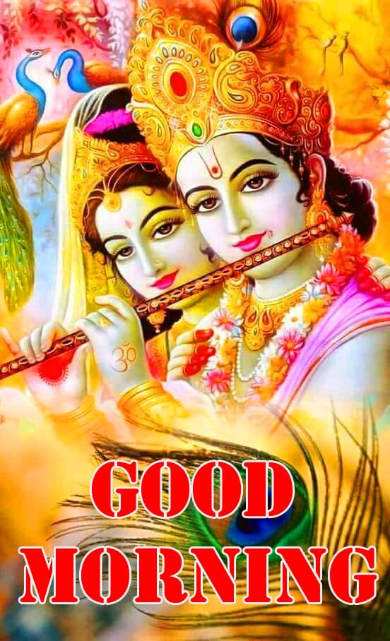 Radha Krishna Good Morning Wishes Pictures HD