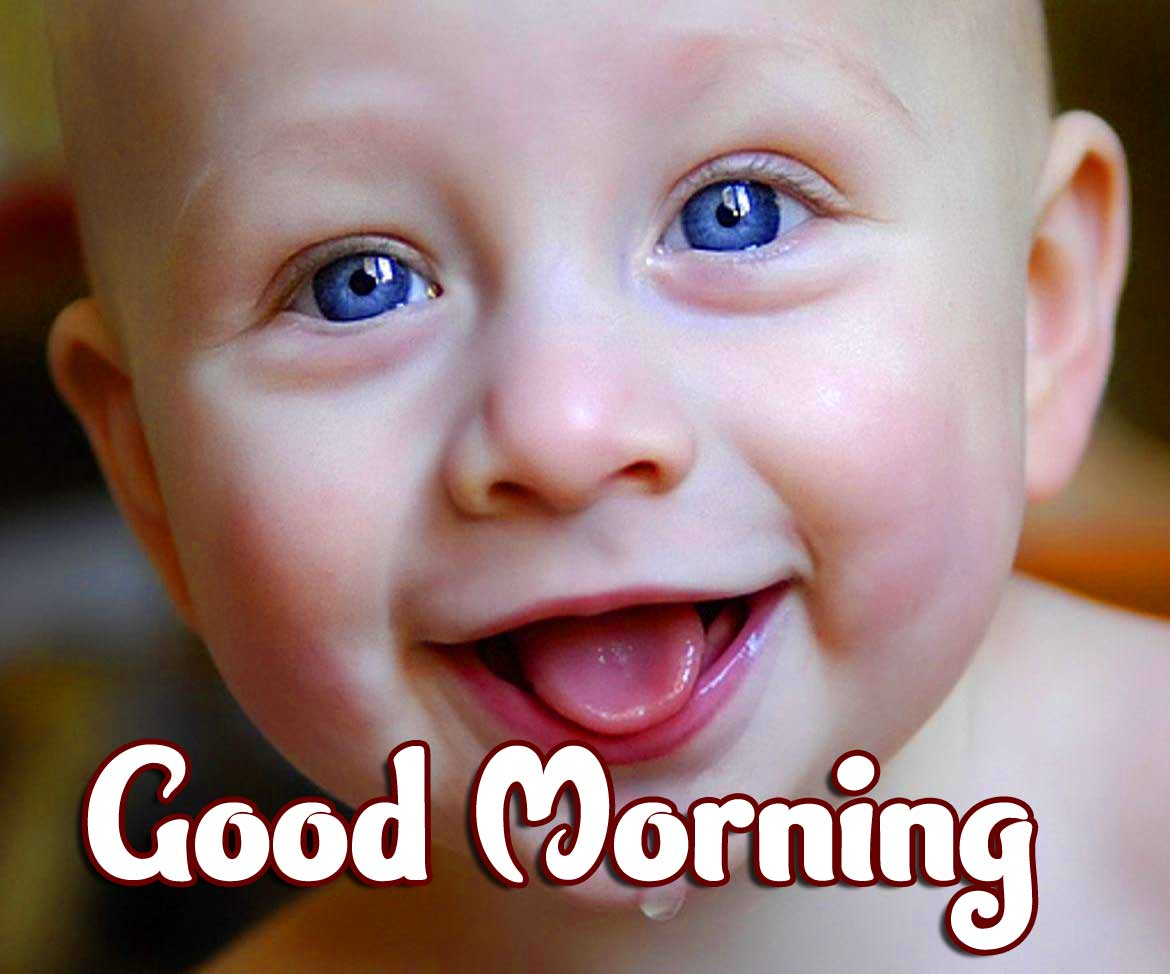 Cute Baby Boys & Girls Good Morning Images Wallpaper for Whatsapp