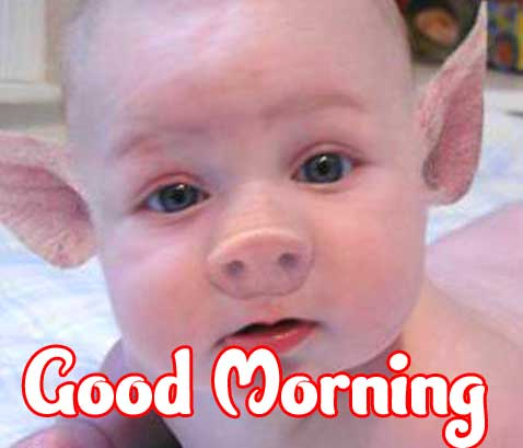 Funny Cute Baby Boys & Girls Good Morning Images Pics Download