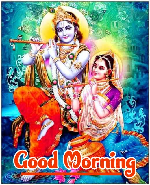 Hindu God Radha Kriahna Good Morning Photo Pics DOWNLOAD