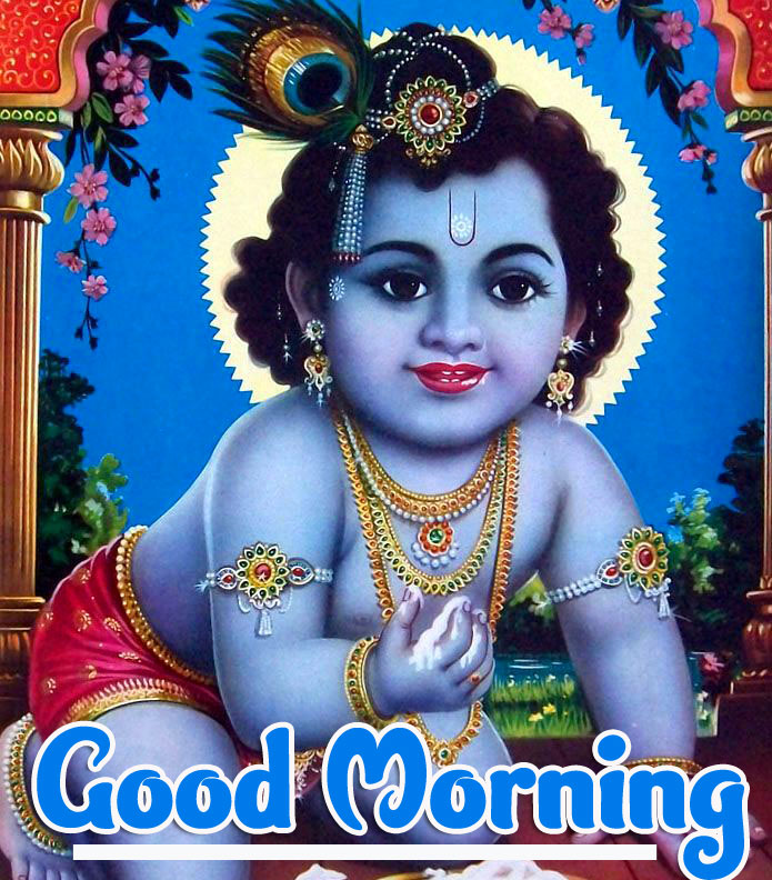 Good Morning Images photo Free Download With Krishna