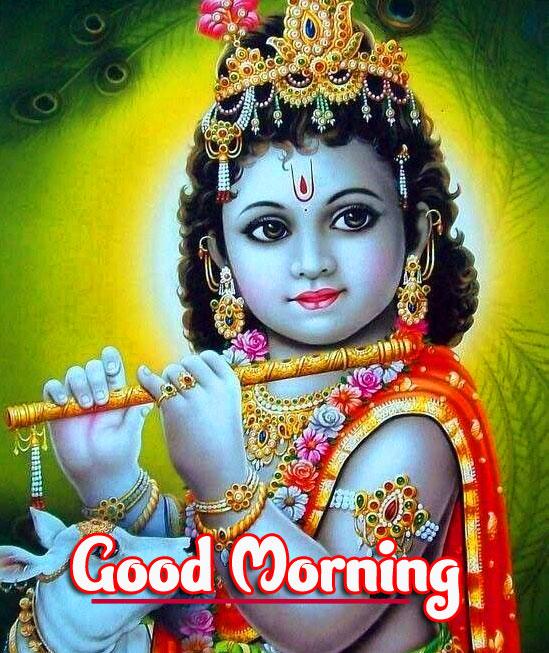 Krishna Good Morning Images Pics Download