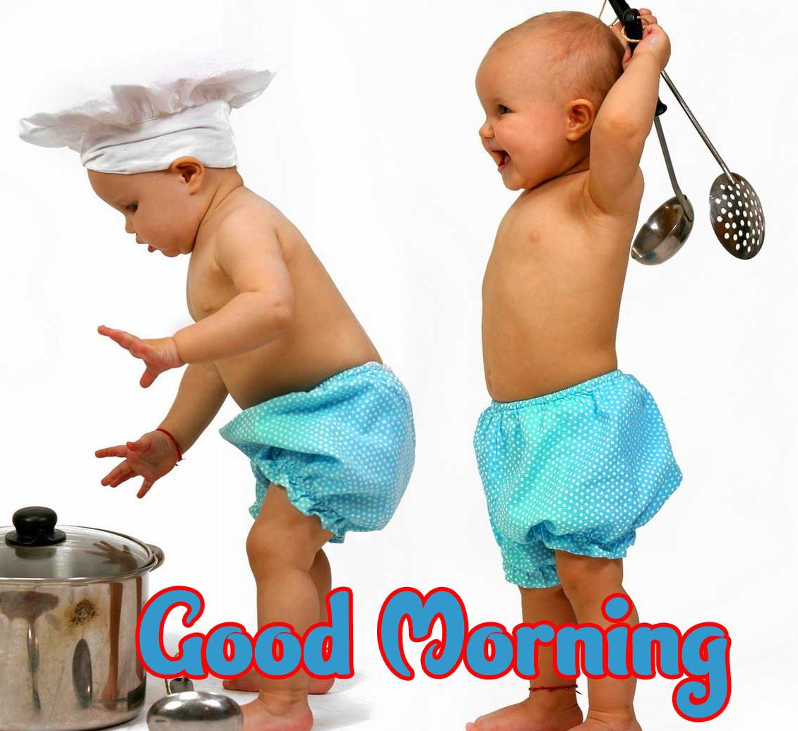 Good Morning Small Baby Images Wallpaper free for Facebook