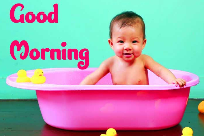 Good Morning Small Baby Images Pics Free for Whatsapp