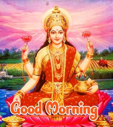 Good Morning Wallpaper pics photo With Maa Laxmi