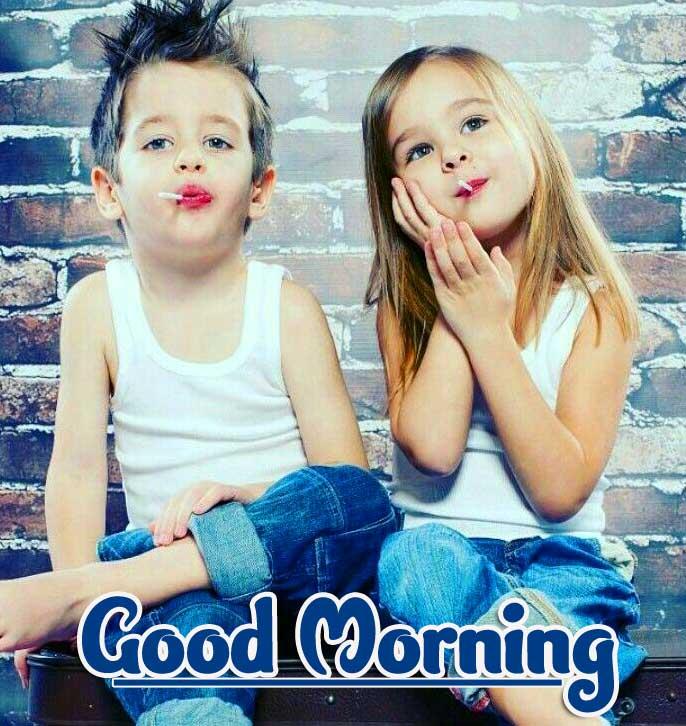 Cute baby Good Morning Wallpaper Pics Download
