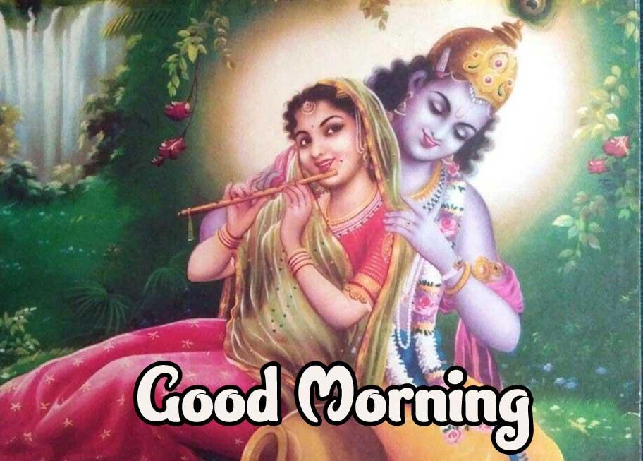 Radha Kriahna Good Morning Wallpaper Pic Download
