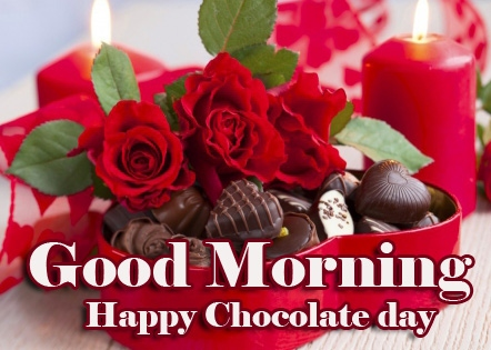 Red Rose Free Happy Chocolate Day Good Morning Images Pics Download