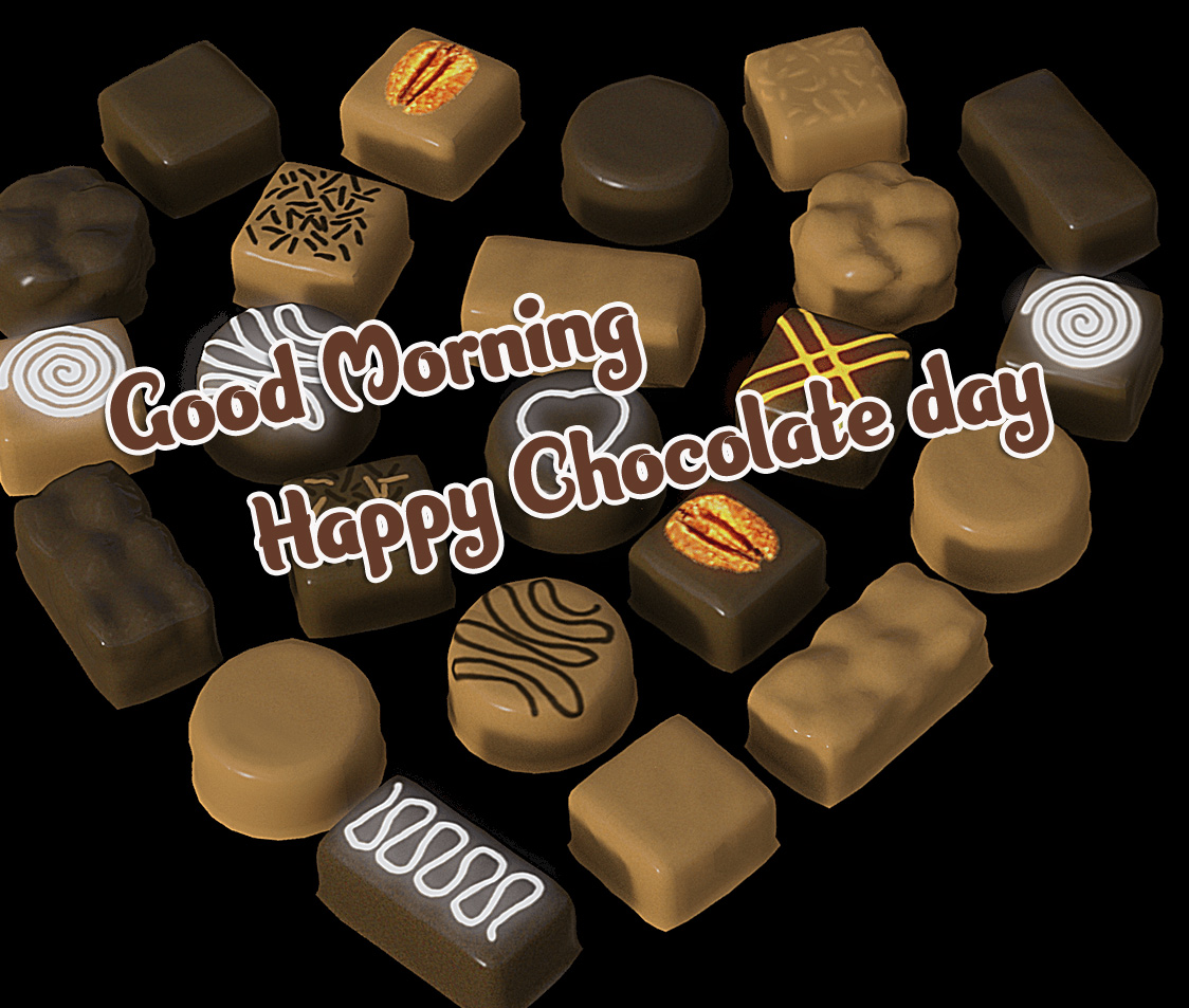 New Best Free Happy Chocolate Day Good Morning Images Pics Download