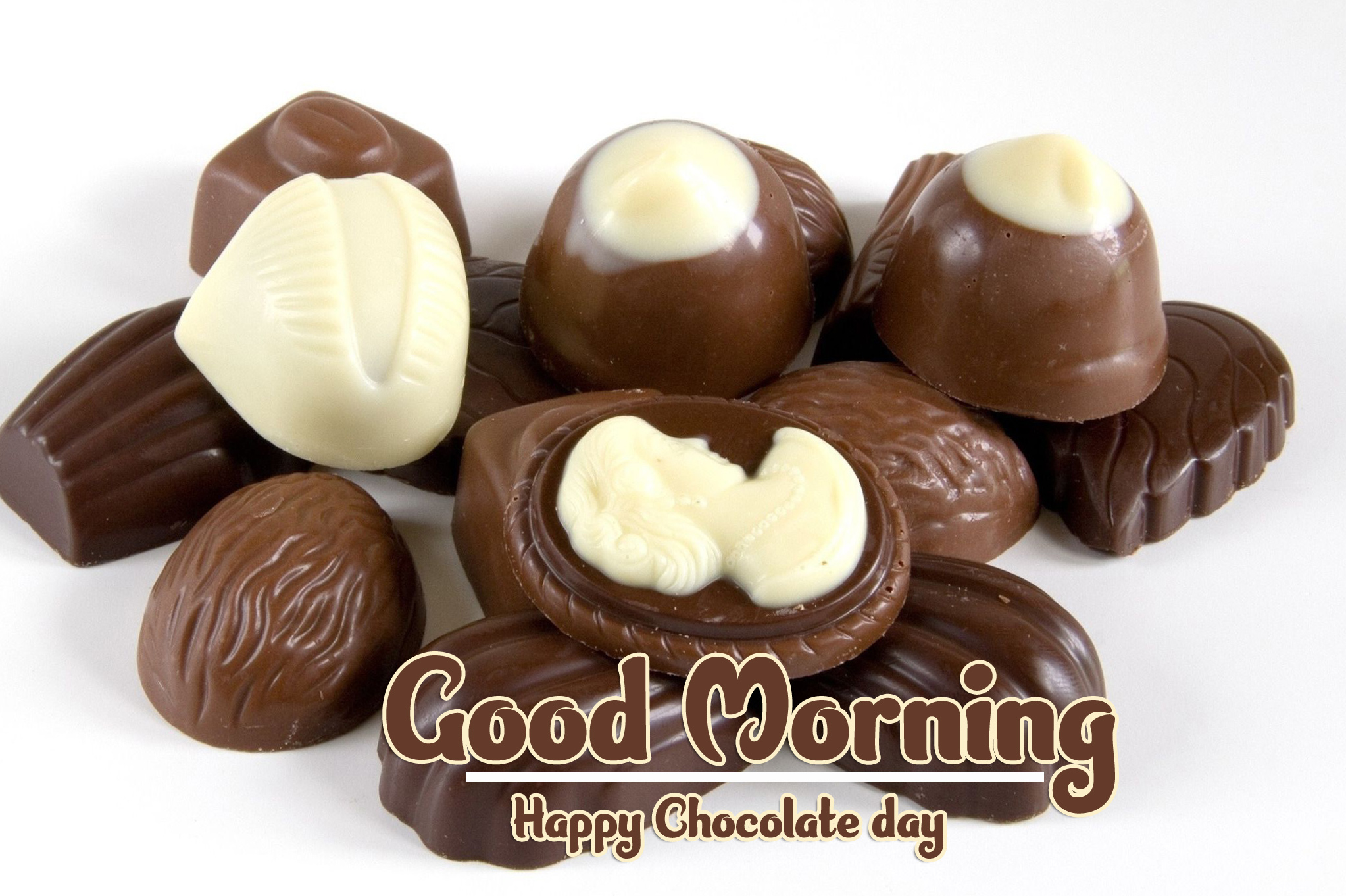 Beautiful Free Happy Chocolate Day Good Morning Images Wallpaper Download