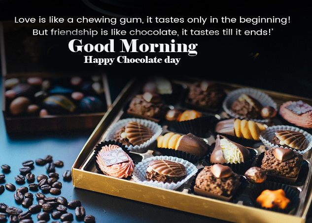 Chocolate Day Good Morning Wallpaper for Facebook