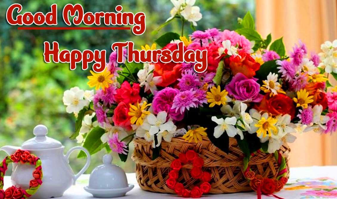 Flower Thursday Good Morning Images pics Wallpaper Download