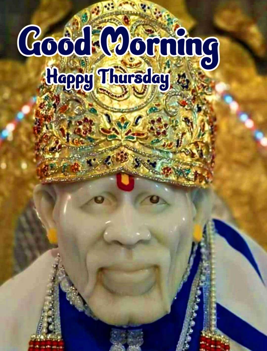Thursday Good Morning Images Pics Wallpaper With Lord Sai Baba