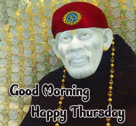 Thursday Good Morning Images Pics Wallpaper With Sai Baba