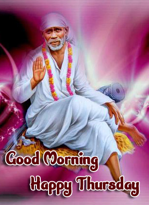 Thursday Good Morning Images Pics Wallpaper With Lord Sai Baba