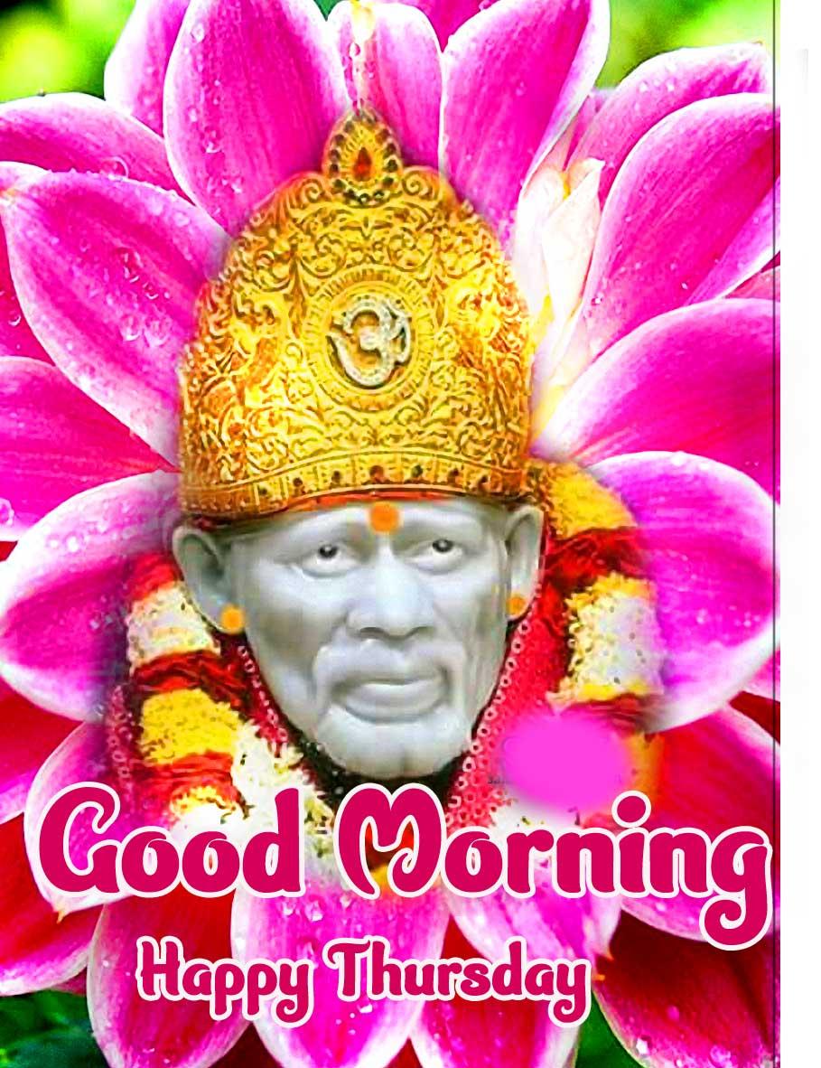 Sai Baba Thursday Good Morning Images Pics Wallpaper Download