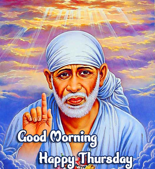 Sri Sai Baba Beautiful Thursday Good Morning Images Pics Download
