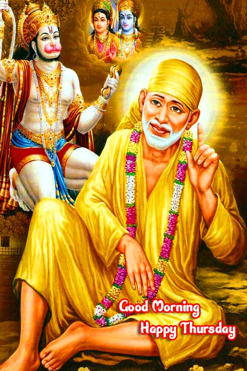 Beautiful Thursday Good Morning Images Pics Download With Lord Sai Baba