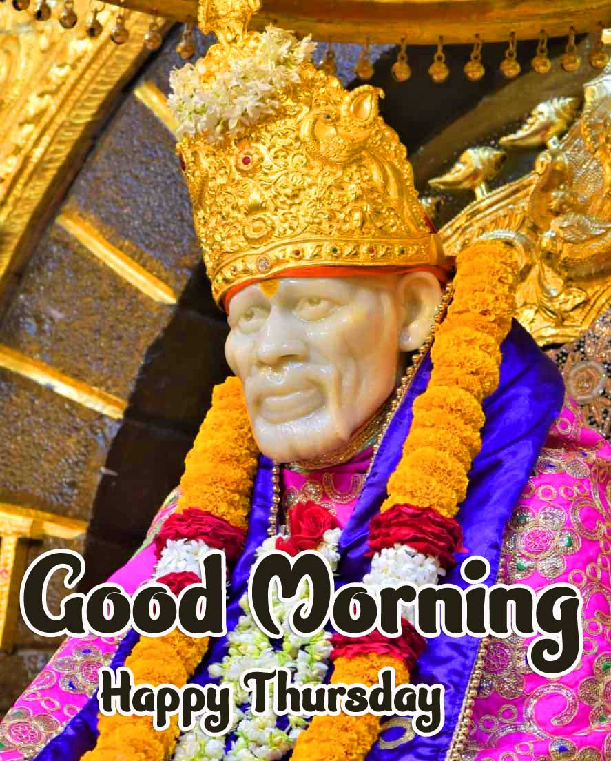 Latest Sai Baba Beautiful Thursday Good Morning Images Pics pictures Download