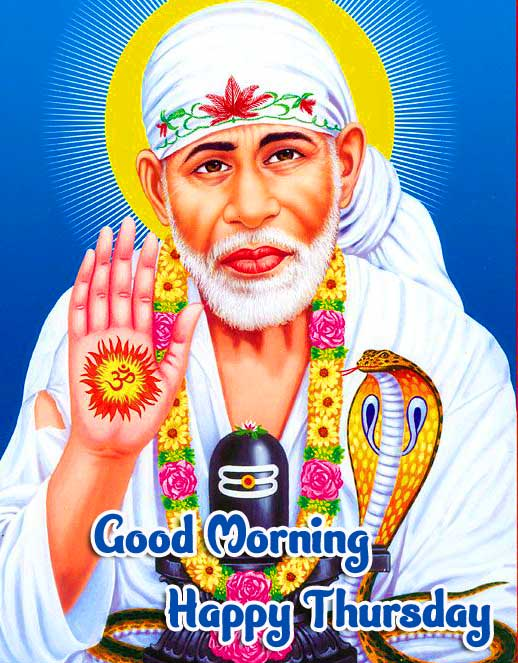 Beautiful Thursday Good Morning Images Pictures Download With Sai Baba