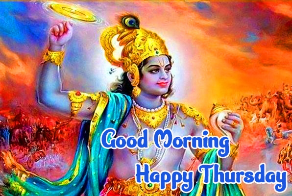 God Krishna Beautiful Thursday Good Morning Images Pics Download