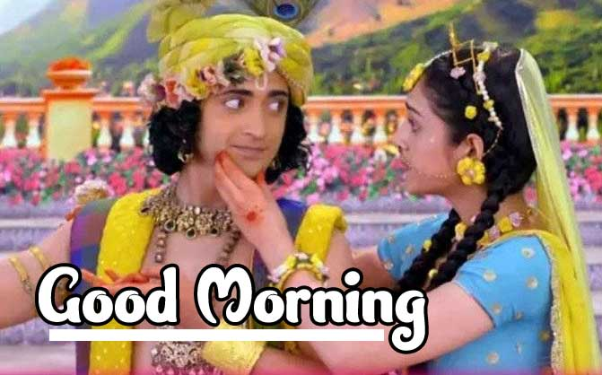 Good Morning Images 4K 1080p Pics Wallpaper With Radha Krishna