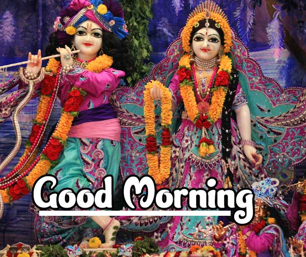 Hindu God Radha krishna Good Morning Wishes Images 4K 1080p Pictures Download