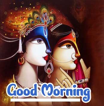 Krishna Good Morning Wishes Images 4K 1080p
