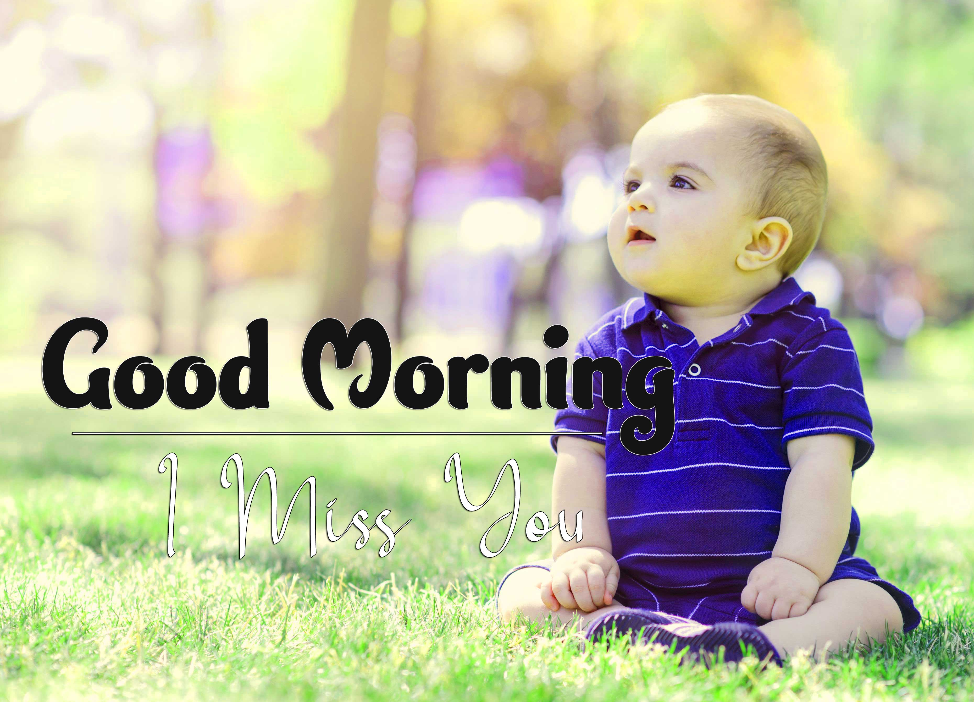 With Cute Baby Good Morning Photo Download Free