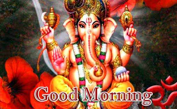 Lord Ganesha Good Morning Wishes Wallpaper Free