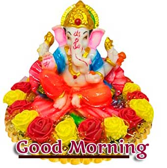 Good Morning Ganpati Bappa Pics for Whatsapp / Facebook