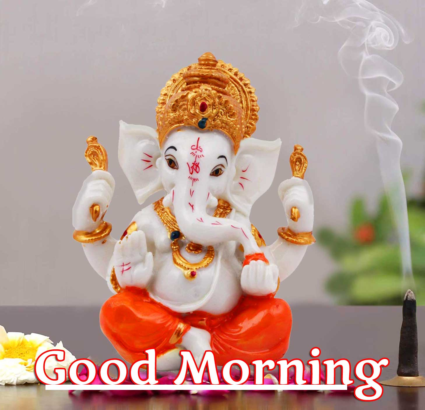 Good Morning Ganpati Bappa Wallpaper Free Download