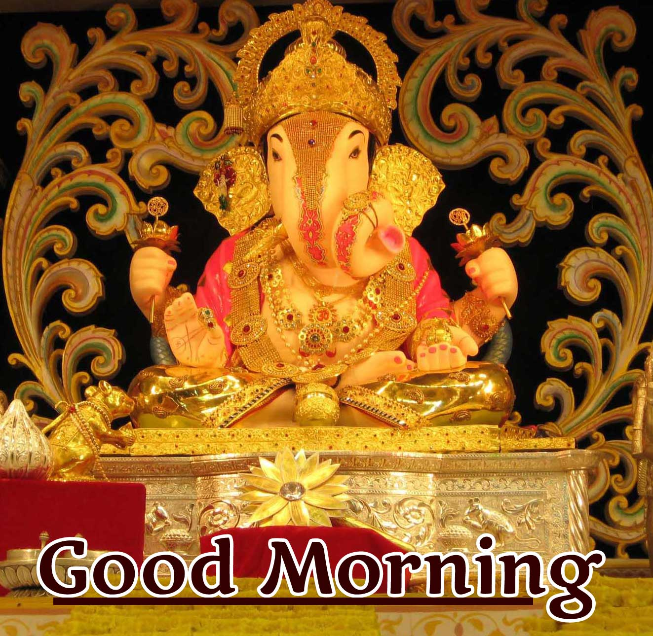 Good Morning Ganpati Bappa Photo for Facebook