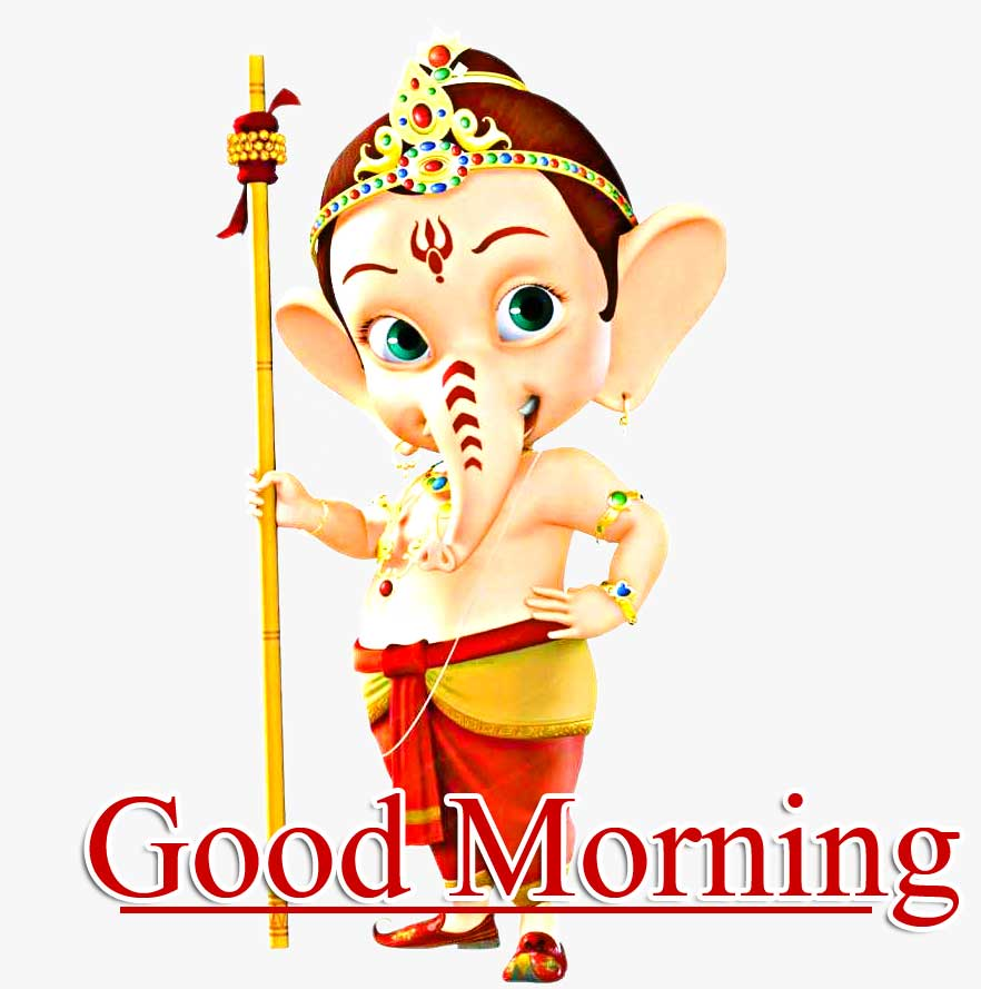 Good Morning Ganpati Bappa Pics Wallpaper With Bal Ganesha