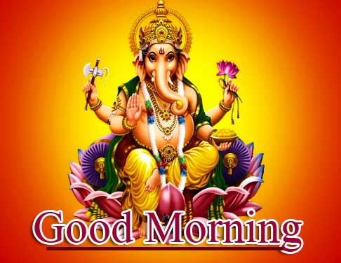 Latest Updated Good Morning Ganpati Bappa Pics Free for Facebook