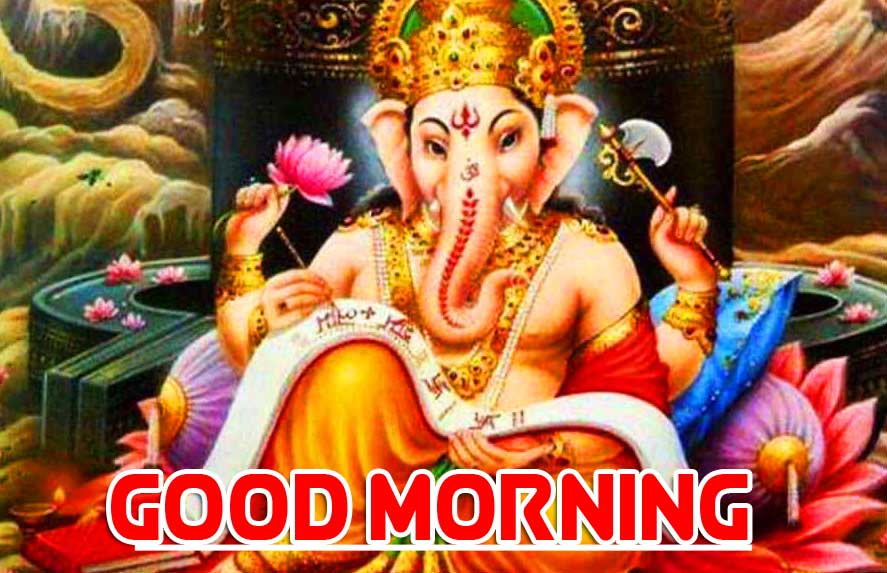 Latest Updated Good Morning Ganpati Bappa Pics photo Download