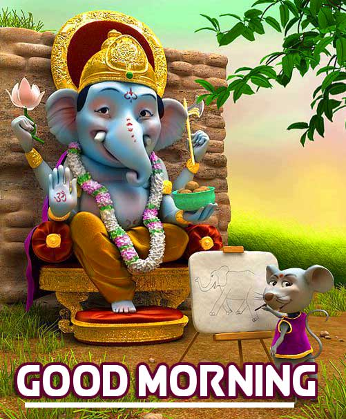 Latest Updated Good Morning Ganpati Bappa Wallpaper Free Download
