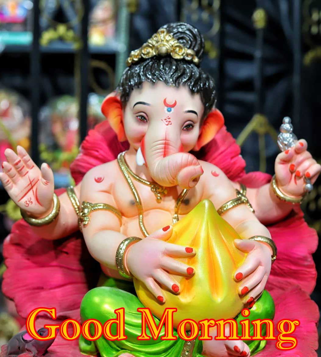 Good Morning Ganpati Bappa Photo Free HD