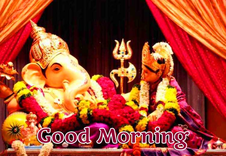 Good Morning Ganpati Bappa / Ganesha Wallpaper Pics Free Download