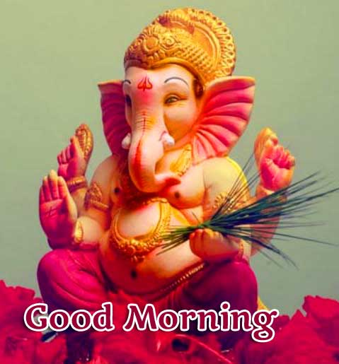 Good Morning Ganpati Bappa / Ganesha photo Pics Download