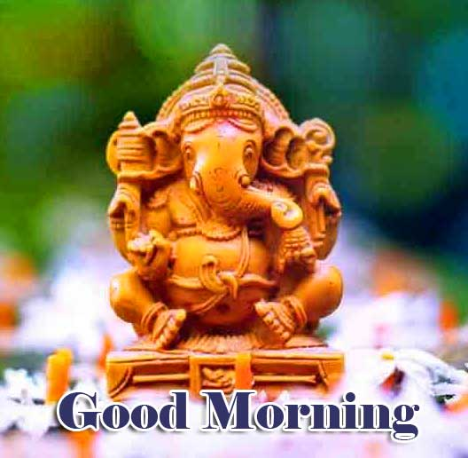 Good Morning Ganpati Bappa / Ganesha Wallpaper Free Download