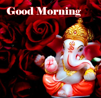 Good Morning Ganpati Bappa / Ganesha Pics Wallpaper for Facebook