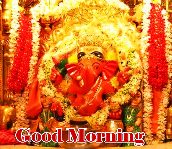 Good Morning Ganpati Bappa / Ganesha Wallpaper Pics Download