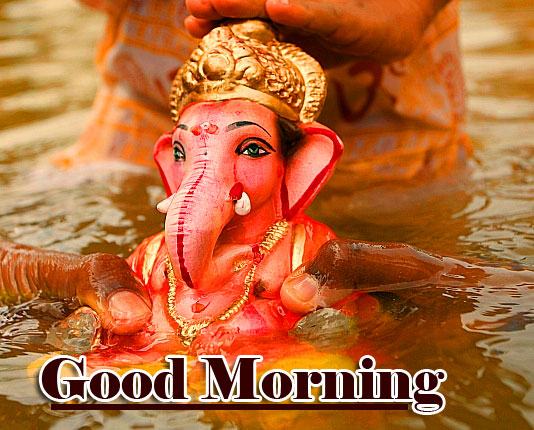 Good Morning Ganpati Bappa / Ganesha Wallpaper Download
