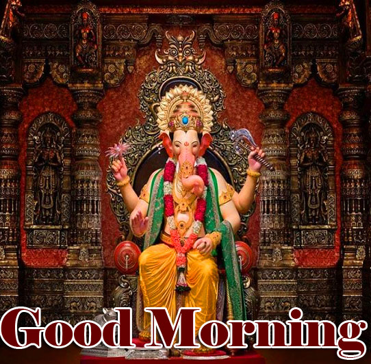 Good Morning Ganpati Bappa / Ganesha pics Wallpaper free Download
