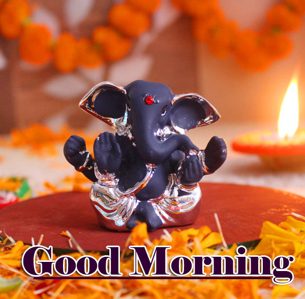 Good Morning Ganpati Bappa / Ganesha Pictures for Whatsapp Status
