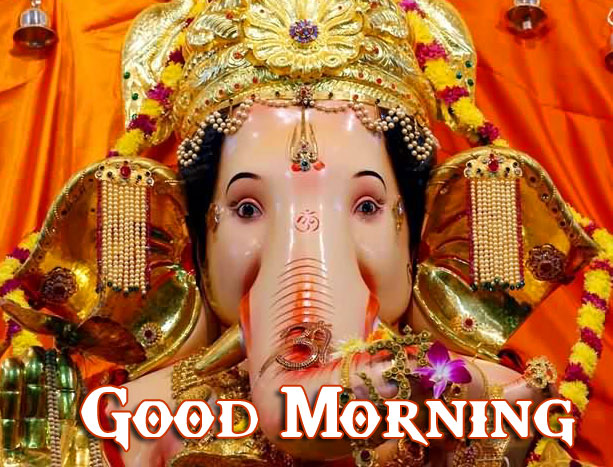 New Free Good Morning Ganpati Bappa / Ganesha Pics Download