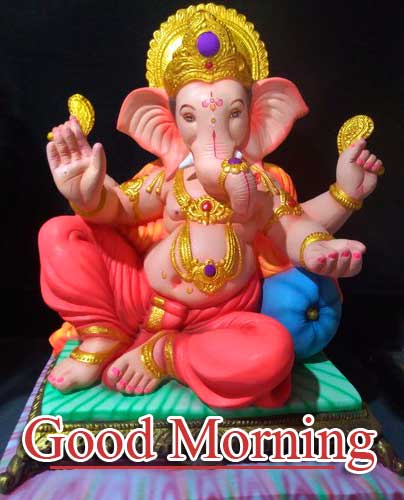 Good Morning Ganpati Bappa / Ganesha Pics Wallpaper Pics Download